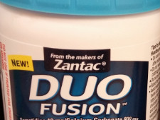 image about Zantac Printable Coupon identify Duo Fusion Acid Reducer + Antacid Printable Coupon $5 Off