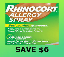 Printable $6 discount coupon for rhinocort