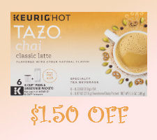 Discount coupon for tazo chai latte k cup