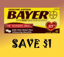 Discount coupon for bayer aspirin