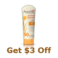 Aveeno coupon for 3 dollars off